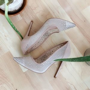 Crystal Mesh pink pump